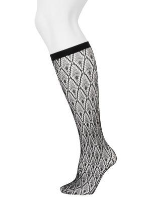 Solid & diamond trouser sock 2-pack