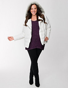 Lane Collection embellished puffer coat by LANE BRYANT