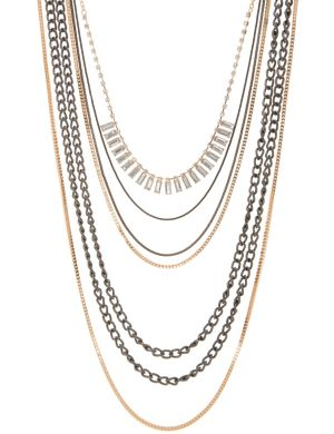 Multi-chain necklace by Lane Bryant