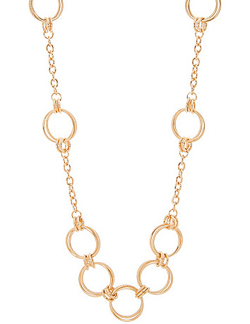 Ring link necklace by Lane Bryant