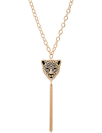 Cheetah head necklace by Lane Bryant