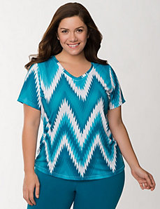 Printed PlayDry tee by Reebok by LANE BRYANT