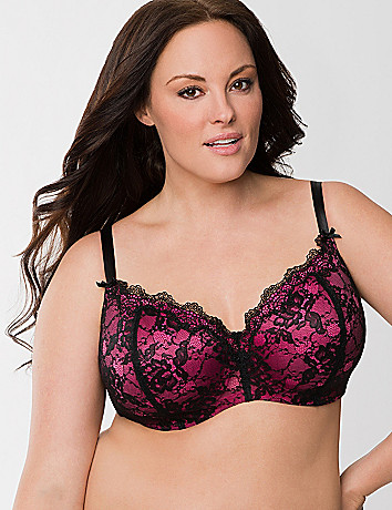 Lace overlay balconette bra by Cacique