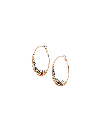 Faceted bead hoop earrings by Lane Bryant