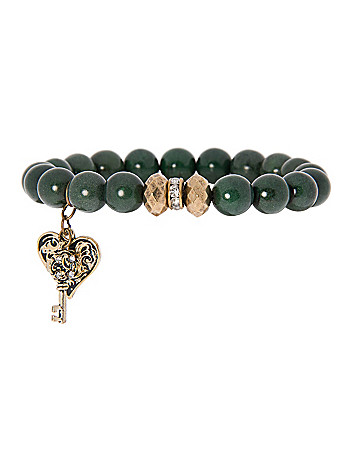 Semi-precious bracelet with charm by Lane Bryant