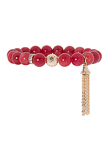 Semi-precious bracelet with tassel by Lane Bryant