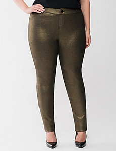 Metallic French terry skinny pant by Lane Bryant