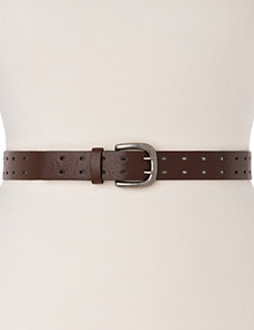 Double prong perforated belt