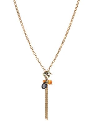 Beaded bird charm necklace by Lane Bryant