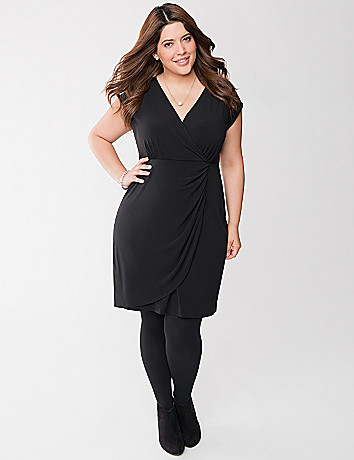 Ruched surplice dress
