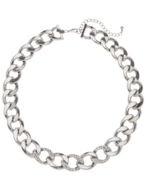 Stone accent link necklace by Lane Bryant