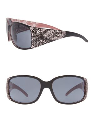 Etched paisley sunglasses