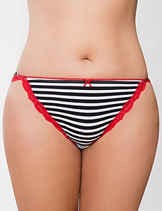 Sassy cotton string bikini with lace by LANE BRYANT