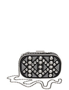 Studded minaudiere clutch bag by Lane Bryant