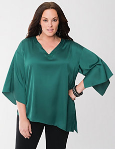 Lane Collection asymmetric dolman top