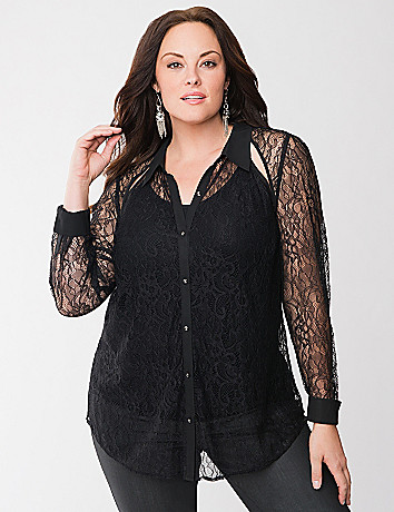Lane Collection lace shirt