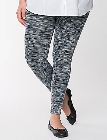 Space dye footless leggings