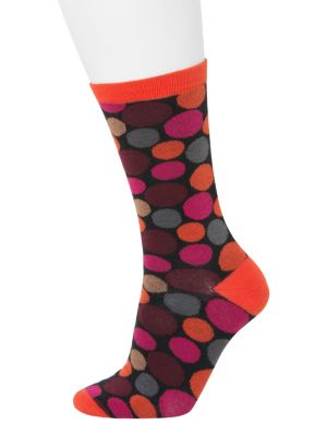 Solid & dots crew socks 2-pack
