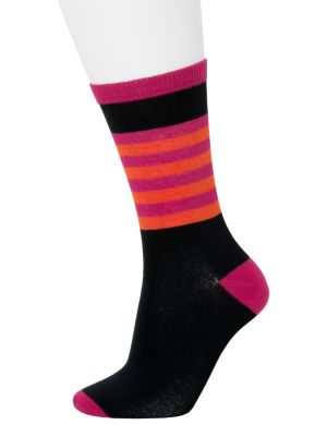 Solid & striped crew socks 2-pack