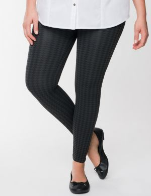 Houndstooth footless legging