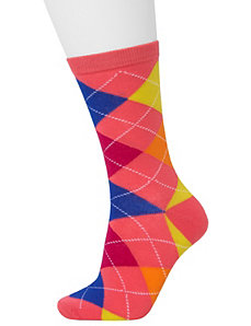 Solid & argyle crew socks 2-pack