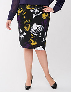 Lane Collection floral pencil skirt