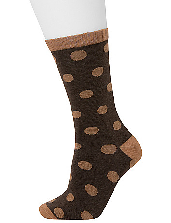 Dots & Solid Crew Sock 2 Pack by Lane Bryant