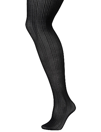 Ribbed tights by Lane Bryant