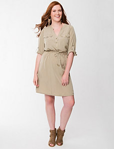 Drawstring shirt dress by LANE BRYANT