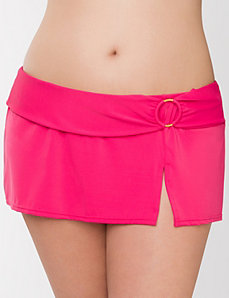 Belted swim skirt by LANE BRYANT