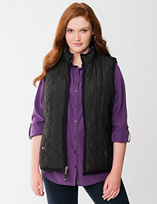 Reversible packable vest by Lane Bryant