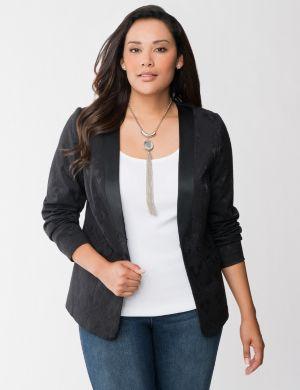 Stretch jacquard jacket