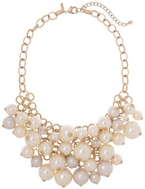 Faux pearl bib necklace by Lane Bryant