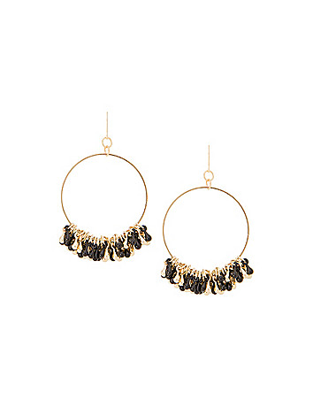Two tone beaded hoop earrings by Lane Bryant