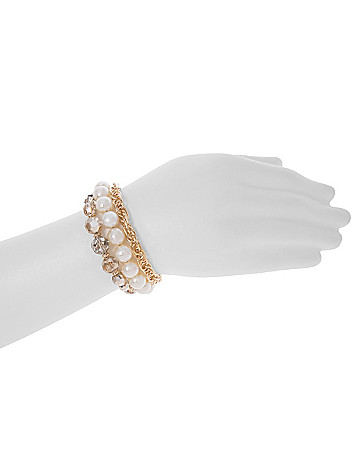 Faux pearl & bead bracelet by Lane Bryant