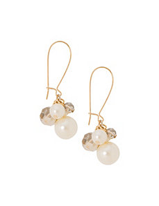 Faux pearl drop earrings by Lane Bryant