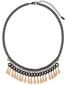 Black & goldtone bib necklace by Lane Bryant