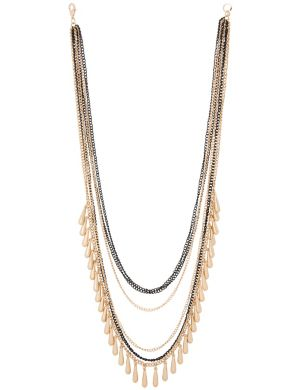Layered teardrop necklace by Lane Bryant