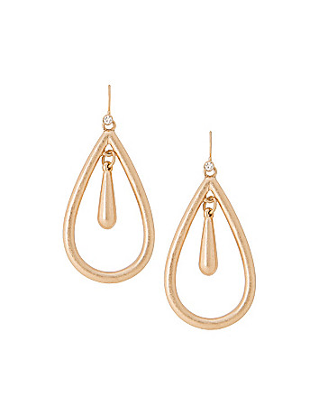 Nested teardrop earrings by Lane Bryant