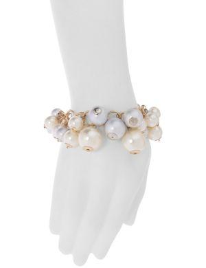 Faux pearl shaker bracelet by Lane Bryant