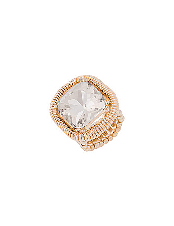 Stone cocktail ring by Lane Bryant