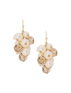Pearl cluster earrings by Lane Bryant