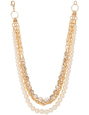 Layered pearl necklace by Lane Bryant