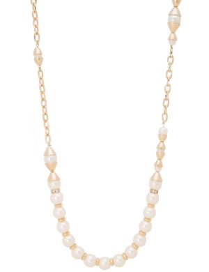 Capped pearl necklace by Lane Bryant