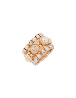 3 row stacked pearl ring by Lane Bryant