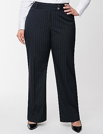 Straight leg pinstripe pant