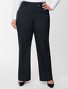 Sophie tailored stretch straight pinstripe pant by Lane Bryant