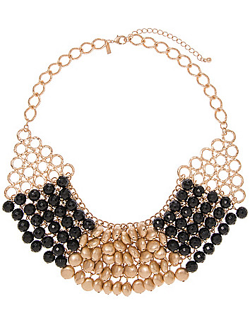 Beaded bib necklace by Lane Bryant
