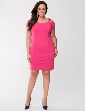 Lane Collection zip shoulder dress