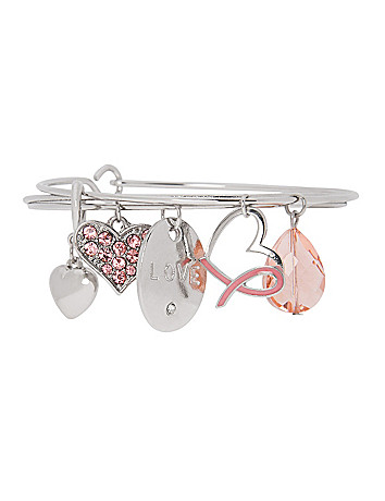 Awareness heart charm bracelet by Lane Bryant